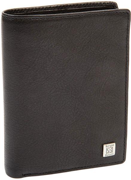 Кошельки бумажники и портмоне Sergio Belotti 1422-west-black портмоне мужское edmins цвет черный 2993 s ml ed black