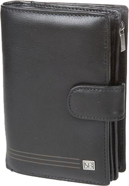 Кошельки бумажники и портмоне Sergio Belotti 1662-west-black кошельки mano портмоне для авиабилетов