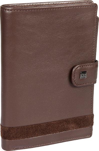 Кошельки бумажники и портмоне Sergio Belotti 2334-novara-cioccolato кошельки mano портмоне для авиабилетов