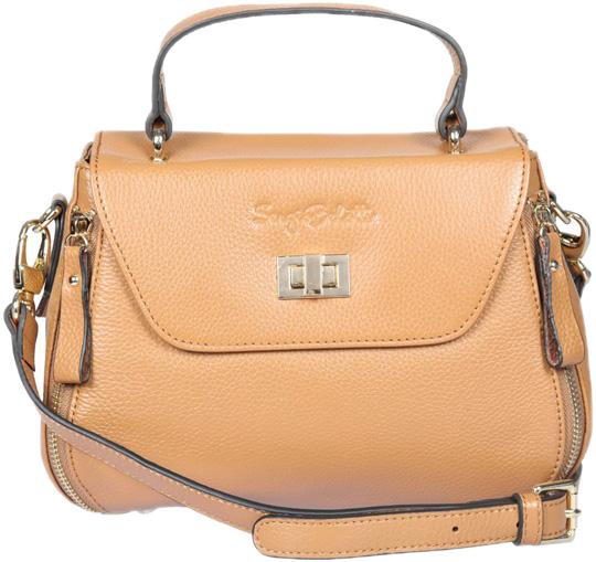 Кожаные сумки Sergio Belotti 255-05-earth-yellow кожаные сумки sergio belotti 9984 20 vegetale navy