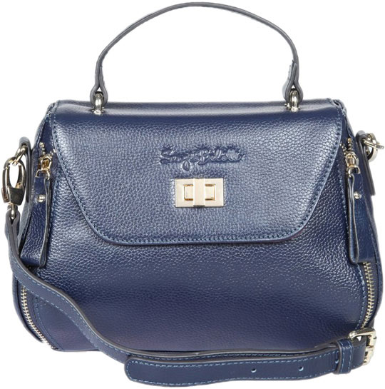 Кожаные сумки Sergio Belotti 255-51-navy-ucenka kalencom buckle bag monique cream