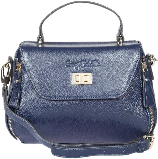 Кожаные сумки Sergio Belotti 255-51-navy сумка sergio belotti sergio belotti se003bmled32