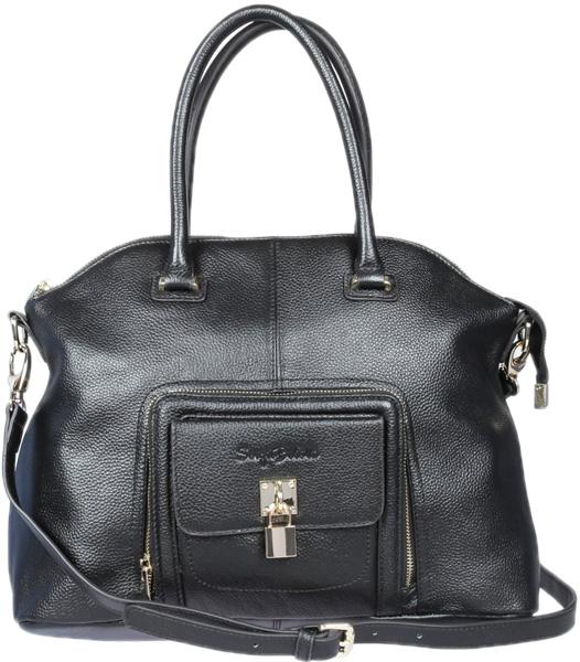 Кожаные сумки Sergio Belotti 302-01-black кожаные сумки sergio belotti 9984 20 vegetale navy
