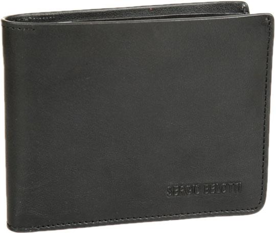 Кошельки бумажники и портмоне Sergio Belotti 3557-IRIDO-black визитница sergio belotti 3551 irido fuxia