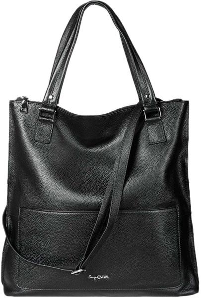 Кожаные сумки Sergio Belotti 541-black кожаные сумки sergio belotti 206 teal