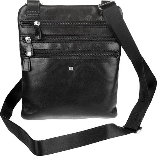цена Кожаные сумки Sergio Belotti 9327-west-black онлайн в 2017 году