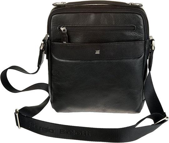 цена Кожаные сумки Sergio Belotti 9487-west-black онлайн в 2017 году