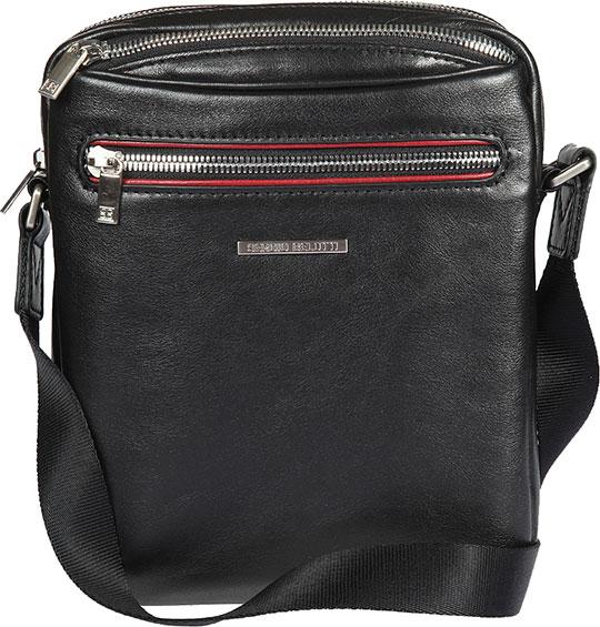 Кожаные сумки Sergio Belotti 9561-otranto-black-rubino юбка fiorella rubino fiorella rubino fi013ewyre33