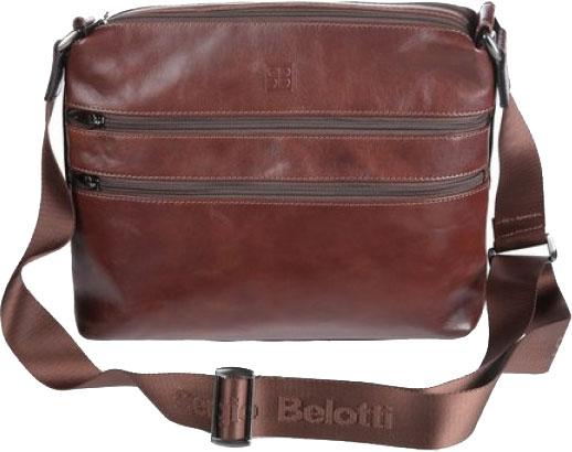 Кожаные сумки Sergio Belotti 9573-milano-brown обложки для документов sergio belotti 2705 garage t moro kiwy