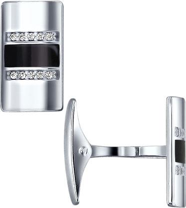 Запонки SOKOLOV 94160019_s запонка victor mayer золотые запонки с бриллиантами и эмалью v1256bw