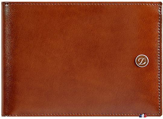 Кошельки бумажники и портмоне S.T.Dupont ST180100 портмоне коллекция g kazhan коричневый светло коричневый нат кожа