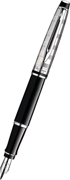Ручки Waterman S0952300 hpolw 2шт мужские и женские сердечных узор черный и серебряный нержавеющая сталь пар гравировкой ожерелья кулоны 18 и 22 дюйма цепи