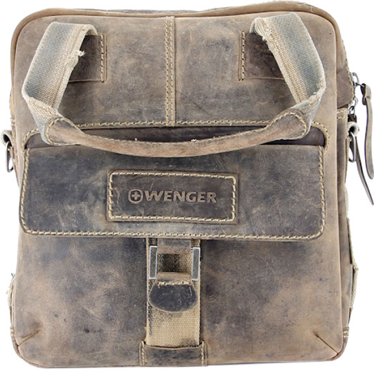 Кожаные сумки Wenger W16-05 сумка планшет wenger stonehide w16 01
