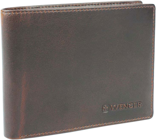 Кошельки бумажники и портмоне Wenger W7-33BROWN wenger business w7 01 w7 01brown