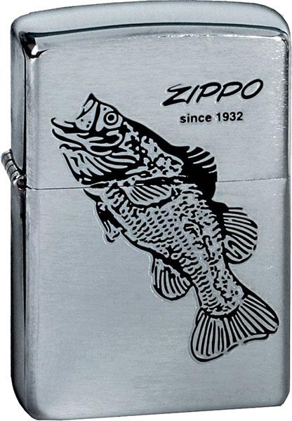 Зажигалки Zippo Z_200-Black-Bass