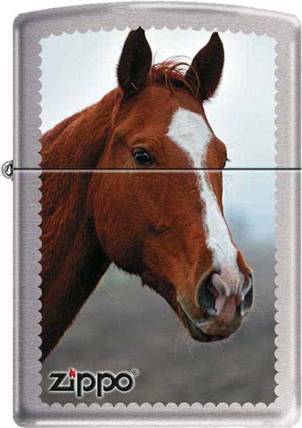 Фото - Зажигалки Zippo Z_200-Horse-Head зажигалки zippo z_200 horse head