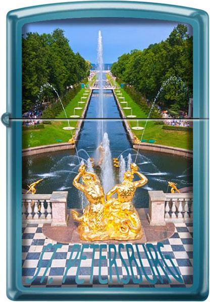Зажигалки Zippo Z_20446-Petrodvorets petrodvorets palaces gardens fountains sculptures