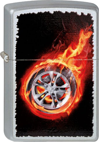 Зажигалки Zippo Z_205-Tire-On-Fire