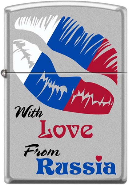Зажигалки Zippo Z_205-With-Love-From-Russia zippo love bites pocket lighter