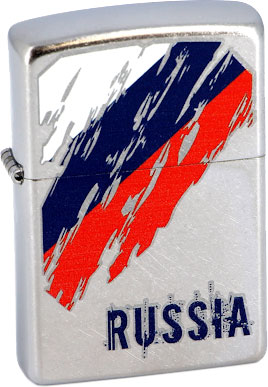 Зажигалки Zippo Z_207-Russia-Flag uk au flag cotton beach pool bath towels