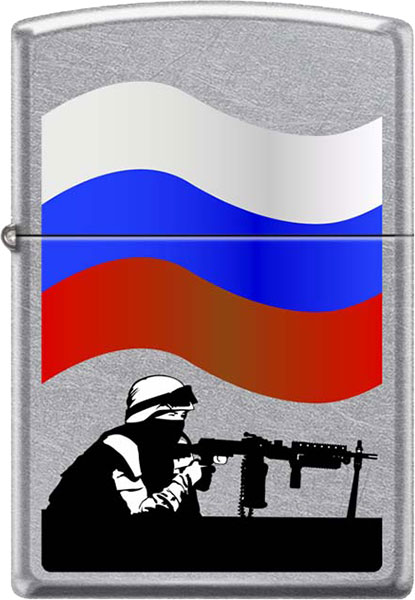Зажигалки Zippo Z_207-Russian-Soldier