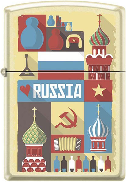 Зажигалки Zippo Z_216-Russian-Postcard