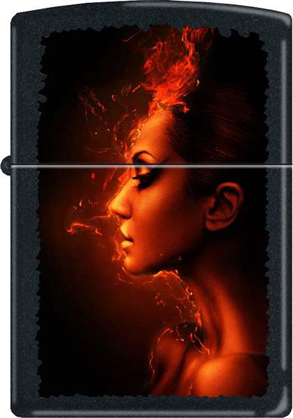 Зажигалки Zippo Z_218-Burning-Woman