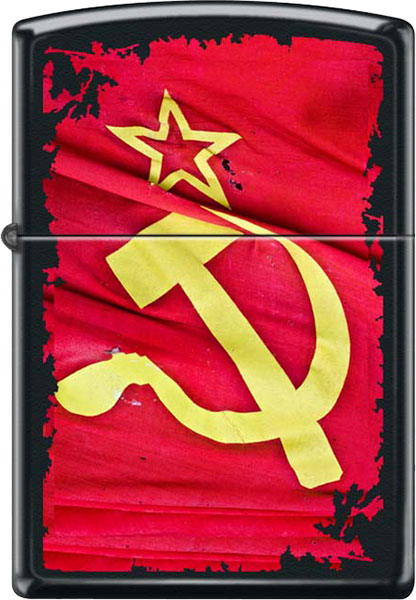 Зажигалки Zippo Z_218-Soviet-Flag-Sickle