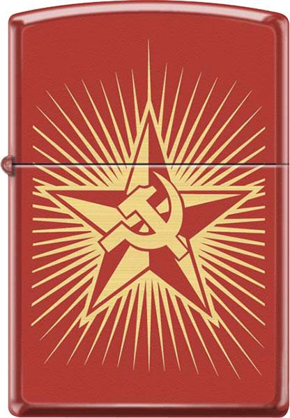 Зажигалки Zippo Z_233-Russian-Hammer-Sickle