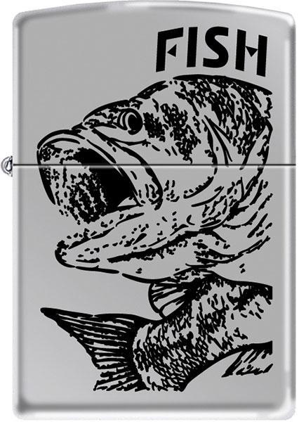Зажигалки Zippo Z_250-Fish-Big-Mouth чехол zippo для зажигалки кожа с фиксатором на ремень чёрный lplbk