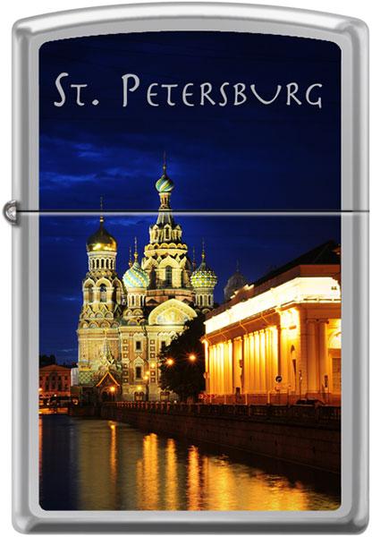 Зажигалки Zippo Z_250-St-Petersburg-Church шкатулка санкт петербург храм спаса на крови 6 х 4 см ручная авторская работа