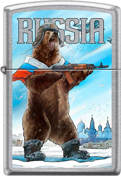 Зажигалки Zippo Z_207-RUSSIAN-BEAR