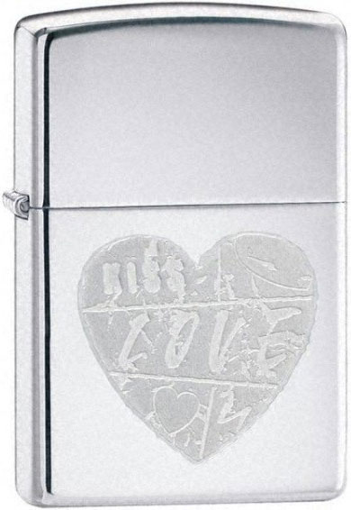 Зажигалки Zippo Z_24198 zippo love bites pocket lighter