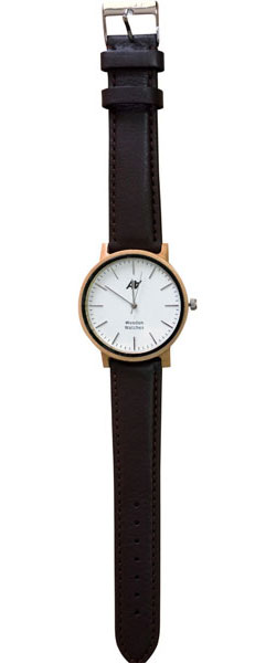 Мужские часы AA Watches Casual-Maple-Leather-Brown women wristwatch fashion casual quartz black white brown leather watches brief hot sale lover s round dial watch elegant