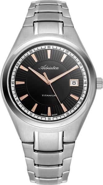Мужские часы Adriatica A1137.R116Q adriatica часы adriatica 1137 4116q коллекция titanium