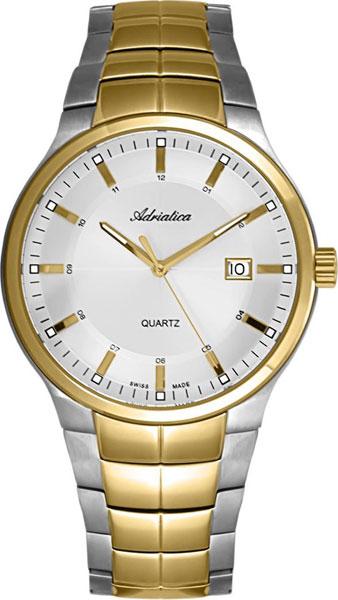 Мужские часы Adriatica A1192.2113Q u7 2016 новая мода силиконовая и нержавеющая сталь браслет мужчины изделий 18k позолоченный браслеты