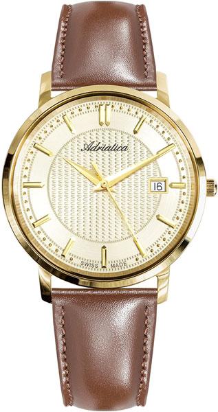 Мужские часы Adriatica A1277.1211Q u7 2016 новая мода силиконовая и нержавеющая сталь браслет мужчины изделий 18k позолоченный браслеты