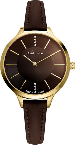 Женские часы Adriatica A3433.121GQ 38mm parnis golden dial sapphire glass miyota automatic mens watch