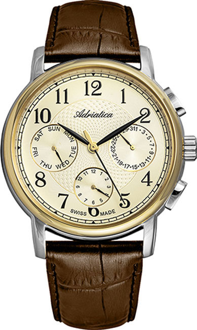 Швейцарские мужские часы в коллекции Portofino Мужские часы Adriatica A8256.2221QF фото