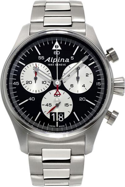 Мужские часы Alpina AL-372BS4S6B alpina часы alpina al 372bs4s6b коллекция startimer pilot