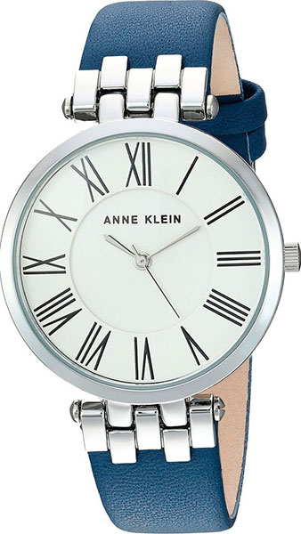 Женские часы Anne Klein 2619SVDB women fashion watches rose gold rhinestone leather strap ladies watch analog quartz wristwatch clocks hour gift relogio feminino