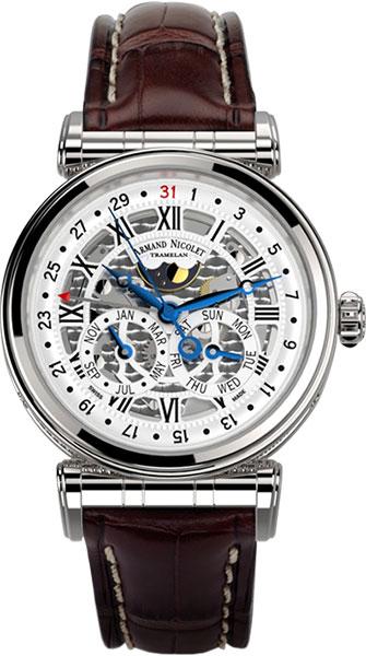 Фото «Швейцарские механические наручные часы Armand Nicolet A422AAA-AG-P974MR2»