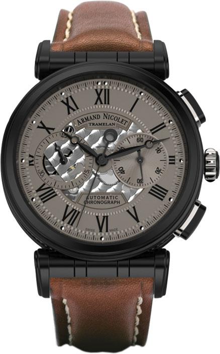 Мужские часы Armand Nicolet A424AQN-GR-PK2420MR мужские часы armand nicolet a650aaa gr pi4650na