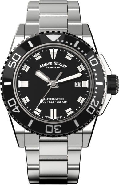 Фото «Швейцарские механические наручные часы Armand Nicolet A480AGN-NR-MA4480AA»