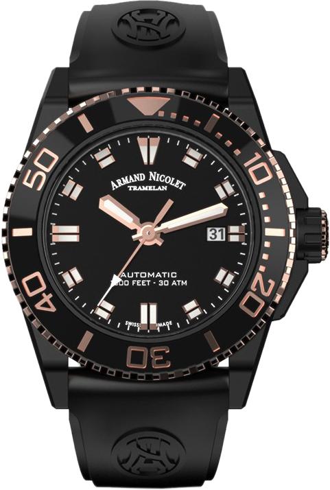 Мужские часы Armand Nicolet A480AQS-NS-GG4710N