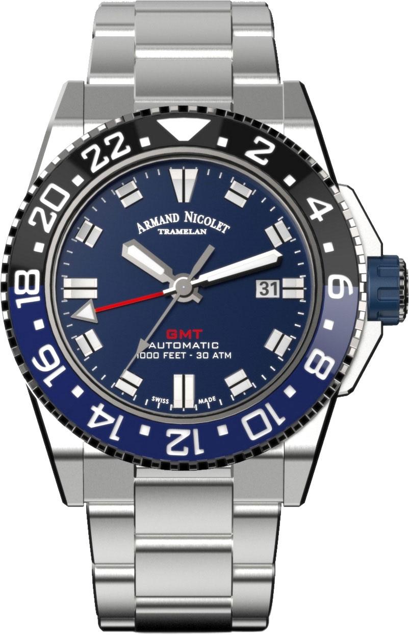 Мужские часы Armand Nicolet A486AGU-BU-MA4480AA