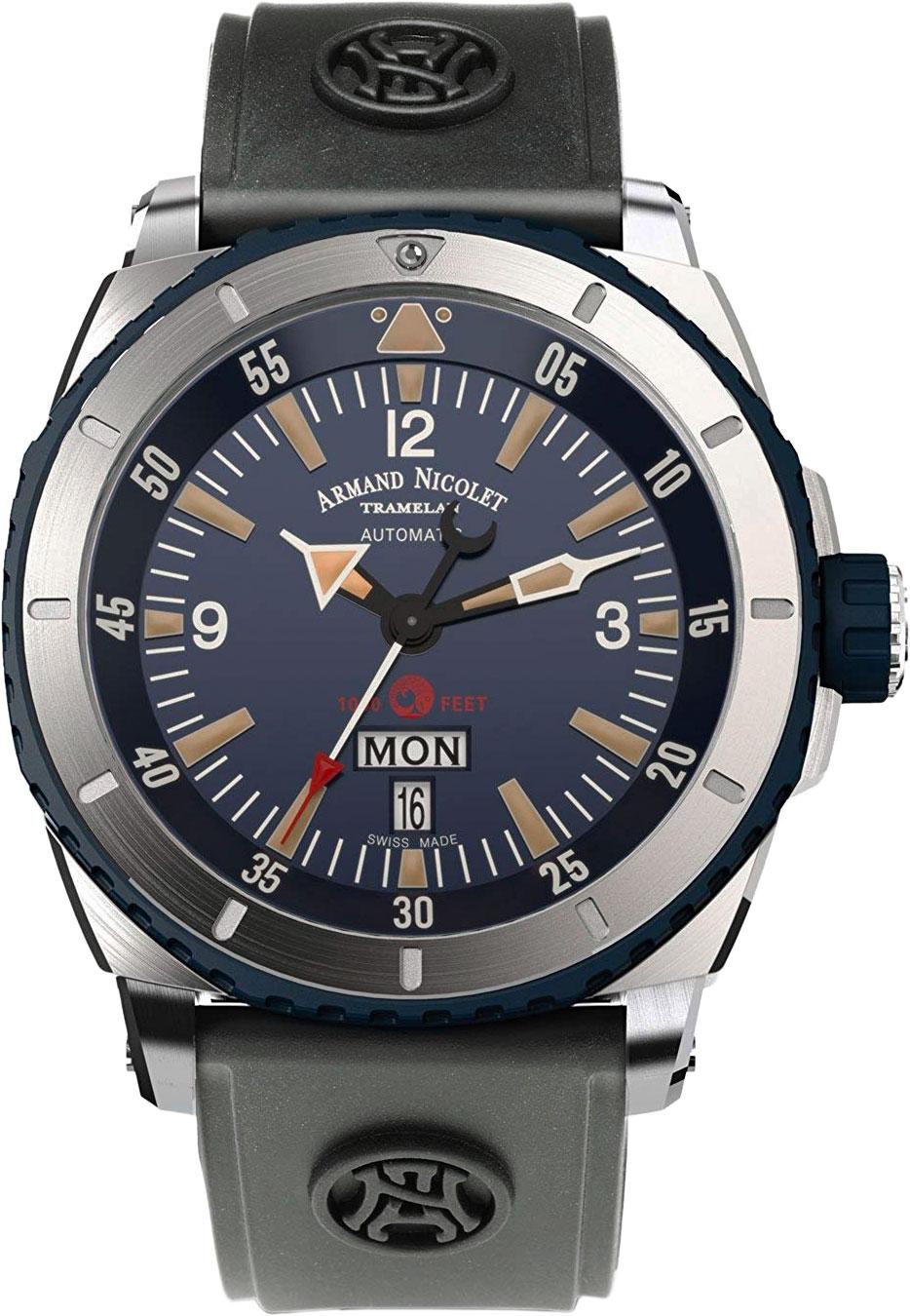 Фото «Швейцарские механические наручные часы Armand Nicolet A713MGU-BU-G9610»