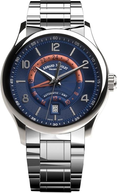 Фото «Швейцарские механические наручные часы Armand Nicolet A846AAA-BU-M9742»