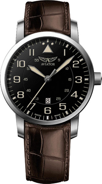 Мужские часы Aviator V.1.11.0.037.4 meikon underwater diving camera waterproof cover case for canon 650d 18 55mm lens black