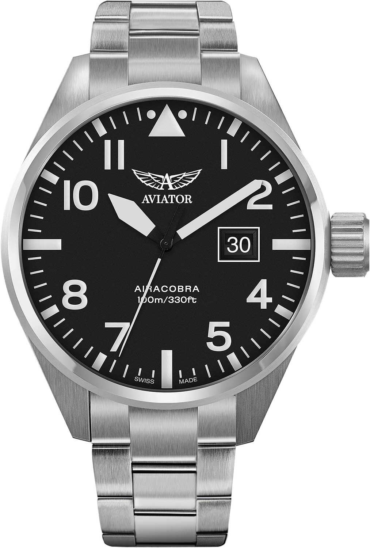 Мужские часы Aviator V.1.22.0.148.5 браслет стальной к часам маурицио